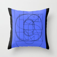 Die Neue Haas Grotesk (C-03) Throw Pillow