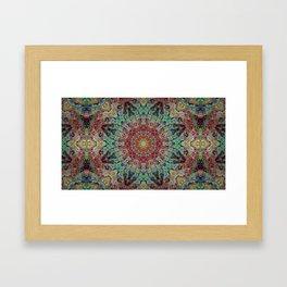 Kaleido-Aura Framed Art Print