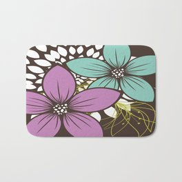 Flowers for One Bath Mat