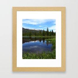 Peaceful Beaver Ponds View Framed Art Print