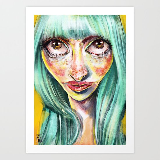 """Glowing 4"" Art Print"