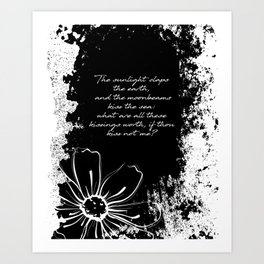 Percy Bysshe Shelley - Love's Philosophy Art Print