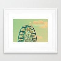 ferris wheel Framed Art Prints featuring Ferris Wheel  by RDelean