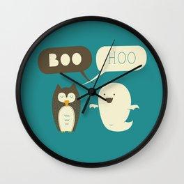 Boo Hoo Wall Clock