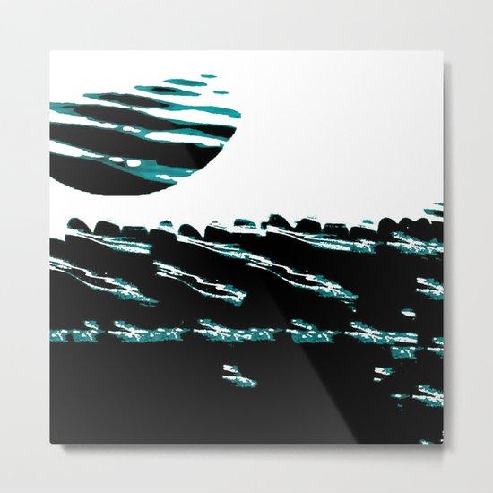 Teal Tide Metal Print