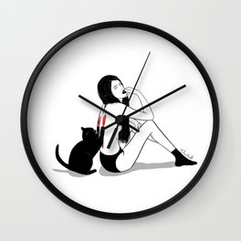 cat therapy 2 Wall Clock