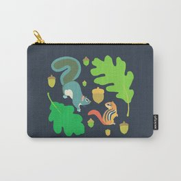 Gray Squirrel + Chipmunk + White Oak Carry-All Pouch