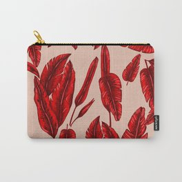 Red Banana Leafs Carry-All Pouch