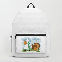 Thanksgiving Pilgrim and Turkey Backpack