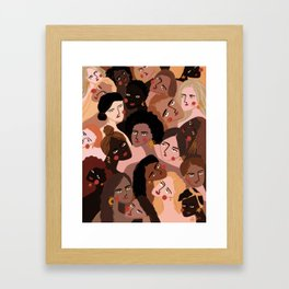 We are the sun, the moon and the stars Framed Art Print