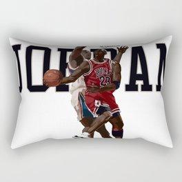 Jordan Reverse layup Hand Painted Rectangular Pillow