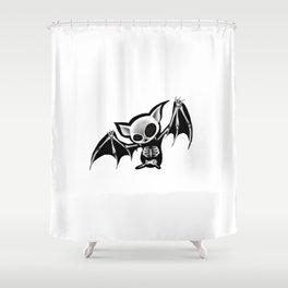 Skeleton bat Shower Curtain
