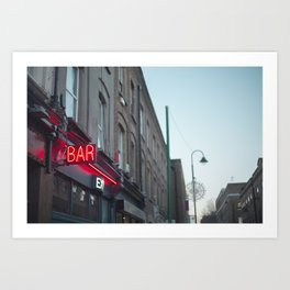 Neon Bar Brick Lane Art Print
