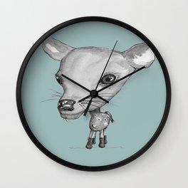 NORDIC ANIMAL - DEDE THE DEER  / ORIGINAL DANISH DESIGN bykazandholly  Wall Clock