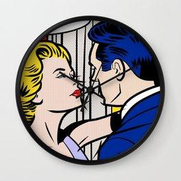 Kiss Me Wall Clock