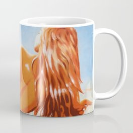 Lying nude in the sunlight Coffee Mug