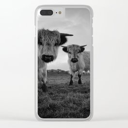 High Park Cow Mono Clear iPhone Case