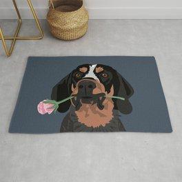Cooper Bluetick coonhound Rug