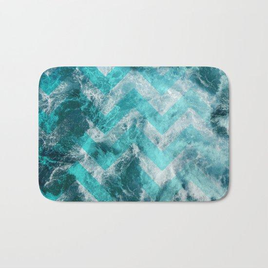 Sea chevron Bath Mat