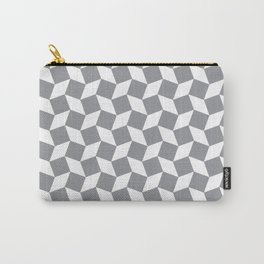 Grey Op Art Pattern Carry-All Pouch