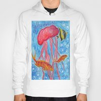 jelly fish Hoodies featuring Jelly Fish by Julie M Studios