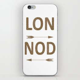 Cool LONDON Typography with arrows iPhone Skin