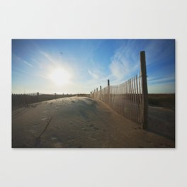 Just a Day at the Beach Canvas Print