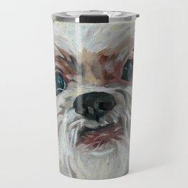 Ruby the Shih Tzu Dog Portrait Travel Mug