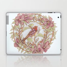 Magnolia And Marigold Wreath With Songbird Laptop & iPad Skin
