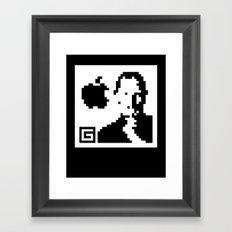 QR- Jobs Framed Art Print