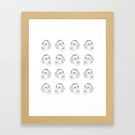 Nicolas Cage Tiles Framed Art Print