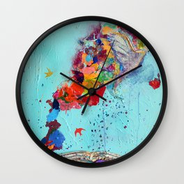 Flight by Letter by Nadia J Art Wall Clock