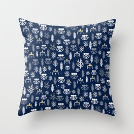 Winter mod Throw Pillow