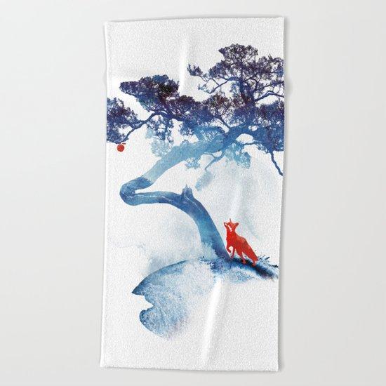 The last apple tree Beach Towel