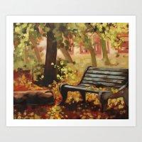 Leaf Poems Art Print