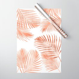 Rose Gold Palm Leaves Wrapping Paper
