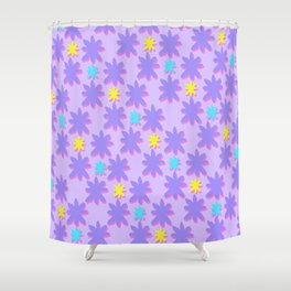 *Asterisk Pink Shower Curtain