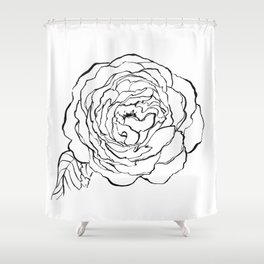 Rose Ink Drawing Shower Curtain