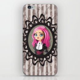 Gothic doll crying iPhone Skin