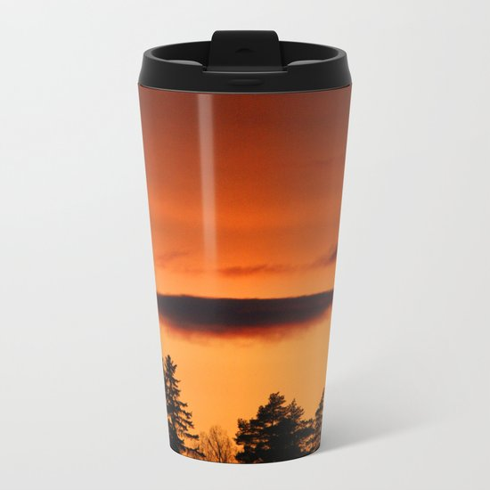 Beautiful Glowing Sky Metal Travel Mug