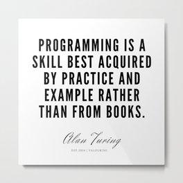 15  | Alan Turing Quotes  | 190716 | Metal Print