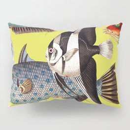 Fish World yellow Pillow Sham