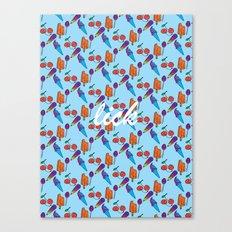 Lick | Blue Canvas Print