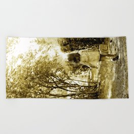 Angel of Hope & Lily Gold Beach Towel