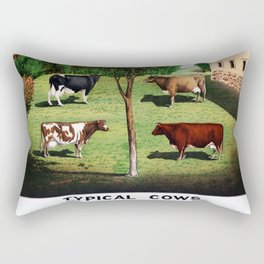 Typical Cows Rectangular Pillow
