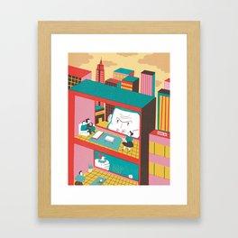 King Kong is watching you! Framed Art Print