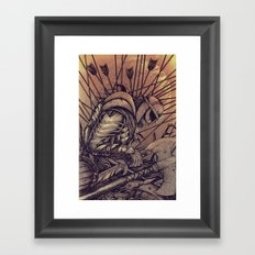 Last Struggle Framed Art Print