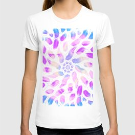 Boho Feather Rainbow Mandala - Meditation - Sacred Geometry T-shirt