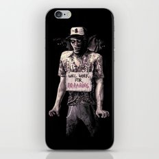 Will Work For Braaains iPhone & iPod Skin
