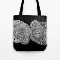 universe Tote Bags featuring Universe by Luna Portnoi
